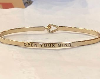 The inspired bangle ( open your mind )