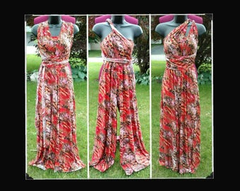 Red printed infinity jumpsuit