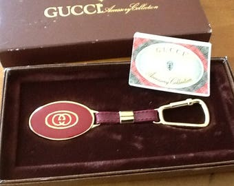 Authentic Vintage Gucci Keychain Red