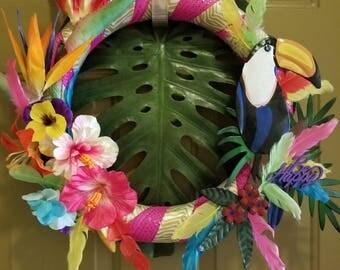 Birds of paradise wreath