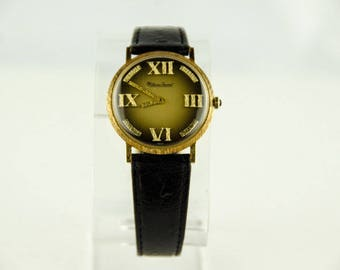 Beautiful Vintage Lucien Piccard 14k Solid Gold Manual Wind Men's Watch