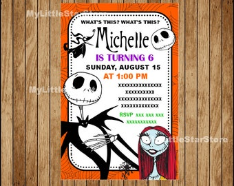 Nightmare Before Christmas Invitation, Nightmare Before Christmas Birthday Invitation, Nightmare Before Christmas Party Digital file