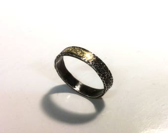 Gold and silver dotted ring//dotted ring gold and silver