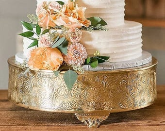 """14"""" gold aluminum cake stand/Wedding cake stand/Gold metal cake stand"""