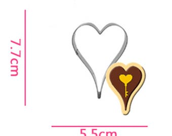 Heart Cookie Cutter- Fondant Biscuit Mold - Pastry Baking Tool Set