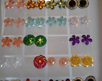 earrings lot 600  metal and plastic