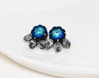 Stella Stud Earrings - NAVY