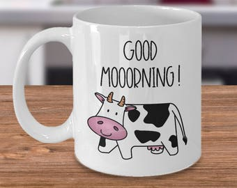 Cow Mug - Funny Cow Coffee Mug - Pun Mug - Farm Animal Mug - Cute Cow Lover Gift for Any Occasion - Cow Decor