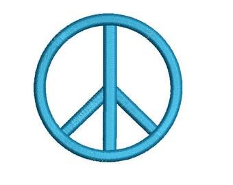 Peace Sign Symbol Design Embroidery Fill Design  Machine Instant Download Digital File EN1033F1