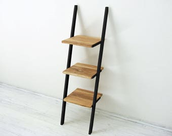Bedside table Nightstand Small three level ladder bookcase