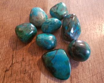 Tumbled Chrysocolla - Large