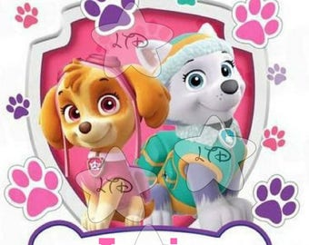 Paw Patrol Girl Birthday ,Digital Image or Transfer,Diy