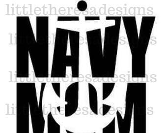 Navy Mom Transfer,Digital Transfer,Digital Iron On,DIY