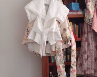 White wrap blouse