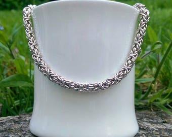 Chain Maille Byzantine Heavy Weight Necklace