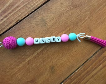 Personalised name key rings