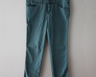 Free People Millennium Colored High Waist Skinny Jeans in Turquoise