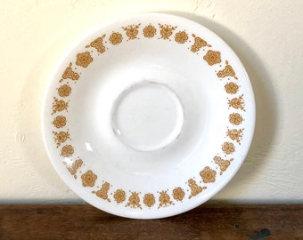Saucer Plate / Butterfly Gold / Vintage Dishware / Butterfly Gold Corelle / Pairs with Vintage Butterfly Gold Pyrex / Butterfly Gold Saucer