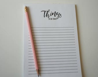 Things To Do Today Notepad