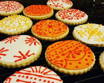 12 Latin Lace Cookies (1 Dozen) / Cowboy Birthday / Desert / Cowboys on the Trail  Party / Cacti