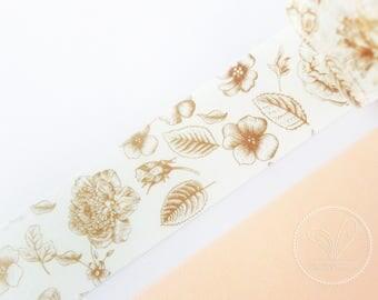 30mm Vintage Floral Washi Masking Tape - Planner, Scrapbook, Craft