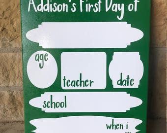 First Day of School Board