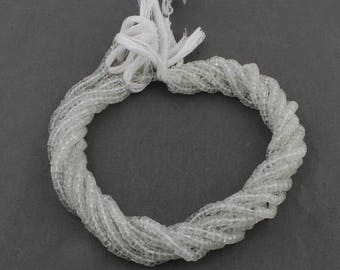 50% off 5 Strands White Topaz Wheel  4mm Faceted Center Drill Rondelles, White Topaz Gemstone Beads 13 Inches Long GR090