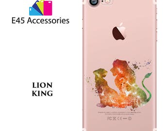 LION KING Disney Watercolour Hard Case for iPhone 5S 5 SE, iPhone 6S 6 or iPhone 7