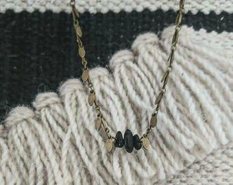 Necklace short tourmaline beads