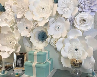Colorful Paper Flower Backdrop for any occasion!!