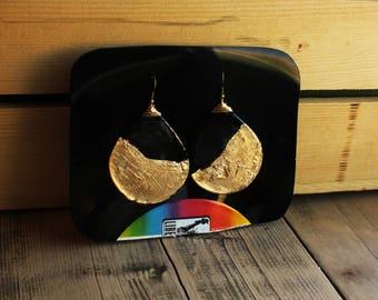 Large Teardrop Vinyl Earrings