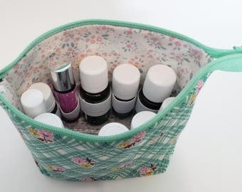 Essential Oil Carrying Case - Make-up Bag - Young Living - Doterra - Essential Oil bag - Travel Bag