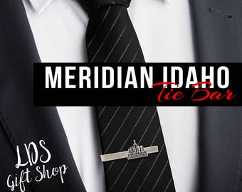 Meridian Idaho Temple Tie Bar Silver or Gold Finish