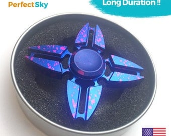 USA retail fidget spinner painted triangle