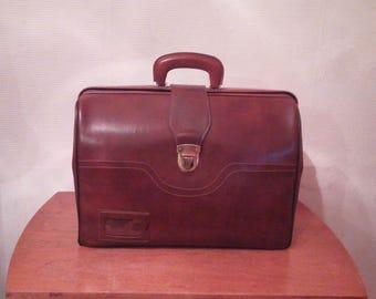 Male briefcase of 1940st. Unique vintage.