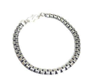 German silver bracelet 8 inch