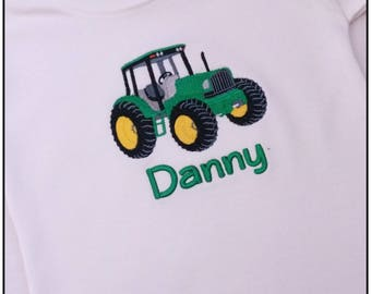 Personalised Tractor T shirt, Tractor T Shirt, Childs T shirt, Personalised T shirt, Baby T Shirt, Named T Shirt, Toddler T shirt, Tractor