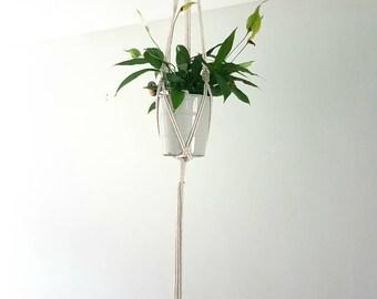 Macrame plant hanger, beige plant hanger, macrame, plant hanger, string plant hanger, wedding macrame, macrame, bohemian plant hanger, decor