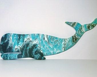 Custom Whale Wall Art- Whale Wall hanging- Wooden Whale Decor- Whale Hanging- Ocean Decor- Beach Decor