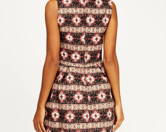 Women's Embroidered Printed Skater Dress