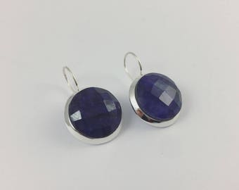 Simple round Lapis Lazuli Earrings