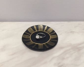 Black & Gold Trinket Dish