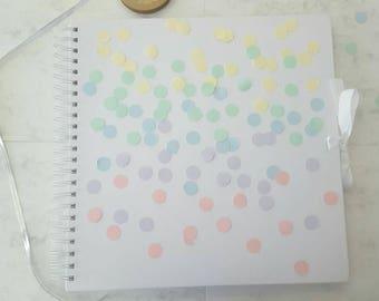 Confetti scrapbook, pastel scrapbook, gradient scrapbook