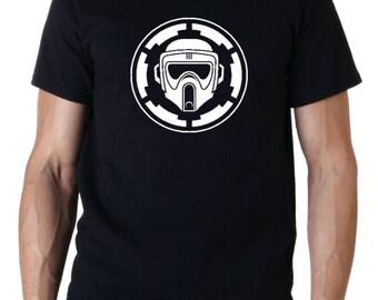 Scout Trooper Biker Star Wars Inspired Movie T-Shirt