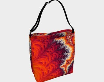 Lightning Bolt Fractal Tote Bag