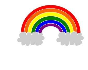 Rainbow SVG / Cut File / Cricut / Silhouette /  Cameo / paper crafting / paper cutting