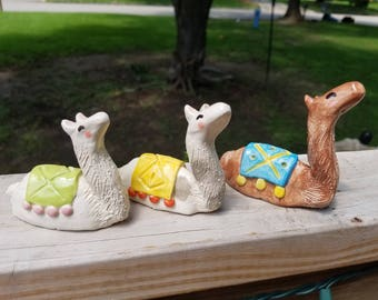 Little Ceramic Llamas