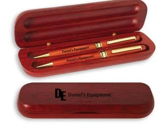 Personalized Engraved Wood Pen, Pencil Set, Pen Case, Engraved Pen & Case, Custom Pen Cases, Wood Pen Set, Wedding Gifts