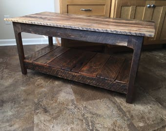 reclaimed wood coffee table | etsy