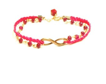 CHEAP discontinued - Braided Friendship Bracelet wire jade and bronze and gold metal alloy
